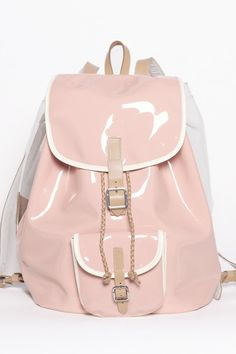 Takashi backpack by Harper Ave Pink and see through with turquoise lining!
