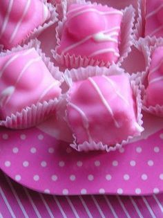 White, Blush, and Pink. Pink petit four. Perfect Pink, Pink Love, Pretty In Pink, Bright Pink, Cupcakes, Cupcake Cakes, Shoe Cakes, Color Rosa, Pink Color