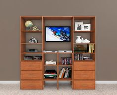 Inspire envy with this amazing entertainment center!