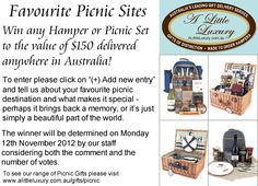 A Little Luxury Gifts & Hampers Australia - Favourite Picnic Destinations