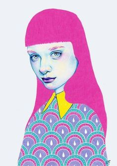 Fabulous new drawing by Natalie Foss Illustration 'Sugar'
