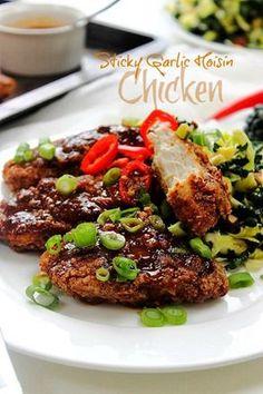 Sweet Sticky Garlic Hoisin Chicken