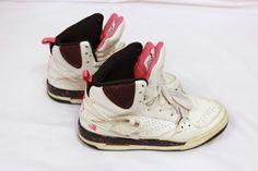 Nike Jordan Air Flight 45 364798-101 Girls Shoes Size 5.5y Pink Sneakers Jordans #Nike #Athletic