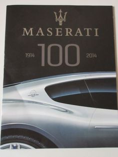 Mens Maserati 100 Year Anniversary Catalog 1914 -2014 Rare Collectible