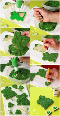 How to Make Simple Moss Bunny Cookies with www.thebearfootbaker.com