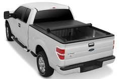 Image may not reflect your exact vehicle! APG® - Roll-Up Tonneau Cover, Opened