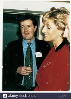 Stock Photo - Piers Morgan meets Princess Diana for the first time circa 1992