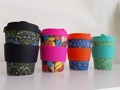 New in! ecoffee cup, loads of designs, made from bamboo- $24.95 each