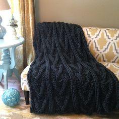 Harrington Blanket Pattern- Chunky Knits
