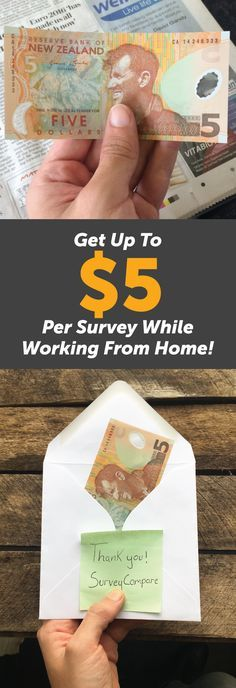 Get Paid From Home By Doing Online Surveys. The average survey pays $5; taking 5 surveys a day, 5 days a week gives $500/month Find out more by clicking on the image and enter your details on the website. By entering your email you'll see the top Paid Survey Companies available to you.