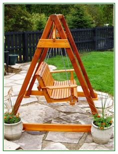 Building A Porch Swing Stand - http://longviews.tv/building-a-porch-swing-stand/