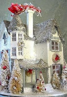 Christmas Putz Victorian House