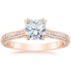 14K Rose Gold Enchant Diamond Ring from Brilliant Earth