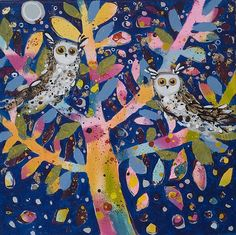 'Two Little Owls' by Claire West