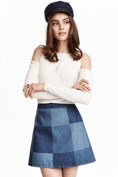 Top spalle scoperte a coste | H&M