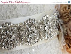 Bridal sash 11 Bridal Belt Wedding Sash Crystal Sash by VioGemini, $125.99