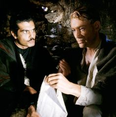"Peter O'Toole and Omar Sharif in director David Lean's ""Lawrence of Arabia"" (1962)."