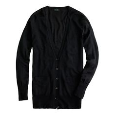 Classic merino long cardigan. Everyone needs a basic black cardigan. Seriously.