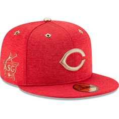 53995b2edc0 Men s Cincinnati Reds New Era Heathered Red 2017 MLB All-Star Game Side  Patch 59FIFTY