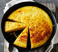 Golden polenta and frozen sweetcorn make a deliciously different alternative to your regular loaf - best eaten fresh from the oven