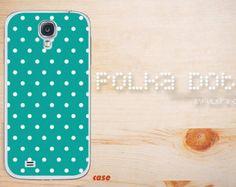 Samsung galaxy note 3 soft rubber case, tough polka dots cyan galaxy S4 case dot Galaxy Note 2 hard case, Galaxy S3 Case,dot Galaxy S5 case