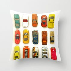 Vintage Toy Cars Pillow Cover Children's Room by machelspencePHOTO, $28.00