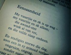Eensaamheid - Jan F. Afrikaans, Reading, Word Reading, Afrikaans Language, Reading Books, Libros