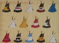 Blackfeet Tipi Camp, ledger art, artist & date unknown. Native American Teepee, Native American Crafts, Native American Artists, Native American History, Native American Indians, Native Americans, Native Drawings, Art Drawings, Drawing Art