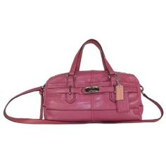 Authentic Coach Leather Reese Convertible Duffle Satchel Bag 17803 Ginger Beet Pink (Apparel)  discount  Coach 70% off