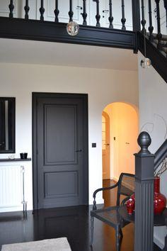 Black Doors trim and Railings