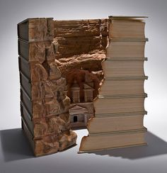 Carving Landscapes Out of Books by Guy Laramee | The Design Inspiration