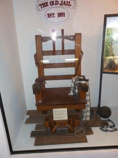 Don't Ever Sit Here.  Ye, old hot seat. Turn of the Century Electric Chair from The St. Augustine History Museum.