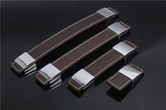 10PCS Kichen Cabinet  Ziny Alloy Leather handle Knobs Drawer Dresser pulls Home  Decoration