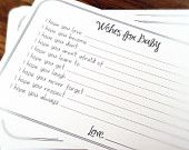 Parenting Advice and Wishes Guest Book Alternative Cards - Set of 50. $15.99, via Etsy.