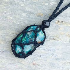Exchangeable Hemp Pouch Necklace - Black