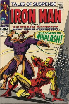 Tales of Suspense #97 first appearance of Madam Masque as Big M and Whiplash.