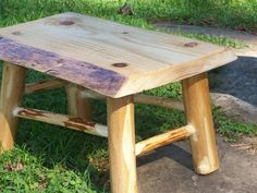 Image detail for -Rustic, log, live edge mortise and tenon step stool - by rivergirl ...