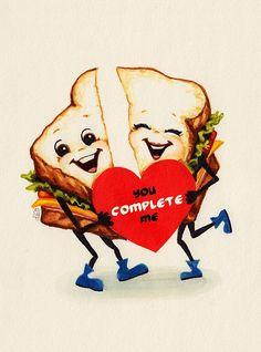 Valentine- Sandwich Art Print by Kelly Gilleran - X-Small Valentines Greetings, Valentine Greeting Cards, Vintage Valentine Cards, Vintage Greeting Cards, Vintage Holiday, Vintage Postcards, Valentine Images, My Funny Valentine, Valentine Day Crafts