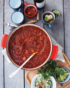 Vegetarian Chili with Avocado Cream Recipe