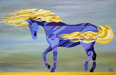 Barbara Rush Contemporary Equine Art, Horse Paintings, Horse Prints, and Photograms Horse Artwork, Horse Paintings, Horse Quilt, Walking Horse, Flow Painting, Blue Horse, Equine Art, Horse Pictures, Beautiful Horses
