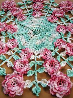 PDF Crochet Pattern More Vintage Floral Doilies Five