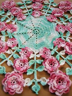 PDF Crochet Pattern More Vintage Floral Doilies by BellaCrochet
