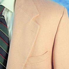 Vintage Brooks Brothers Mens 42R PINK Hopsack Silk ICONIC Blazer Jacket USA NICE #BrooksBrothers #TwoButton