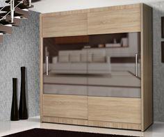 QUALIA 6 - oak with mirror wardrobe