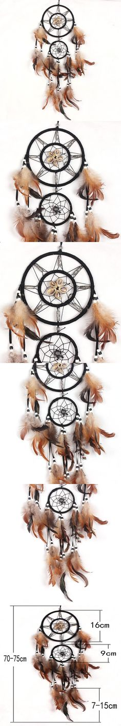 Artistic New Fashion Gift Handmade Indian Dream Catcher Hanging Ring Brown Vintage Home Decorations Car Accessories for Sale $7.09
