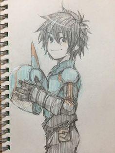 Hiro/ This is not mine Big Hero 6, Manga Drawing, Drawing Sketches, We All Mad Here, Chibi, Drawings Pinterest, Hiro Hamada, Dibujos Cute, Anime Sketch