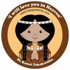 St. Kateri Tekakwitha (1656 – 1680) canonized October 21, 2012