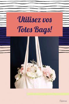 J'ai la solution pour utiliser vos totes bags. Vos dressings possèdent au moins un joli tote bag. Mais pourquoi ne les utilise-t-on pas plus?  #totebag #totesbags #sactissu - optimizi Le Tote, Tote Bag, Solution, Dressings, Lettering, Totes, Bags, Business, Tote Purse