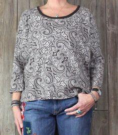 Lands End Blouse XL 18 20 size Brown White Paisley Womens Cotton Top Soft Shirt #LandsEnd #Blouse #Casual