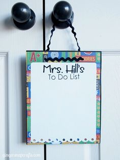 Dry Erase Board on Gingersnap Crafts